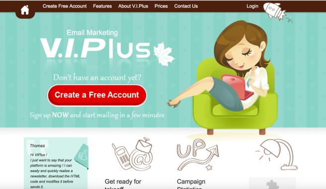 VIPlus landing page